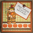 Thanksgiving card in fall colors